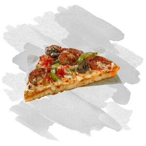 Pizza in Stücken